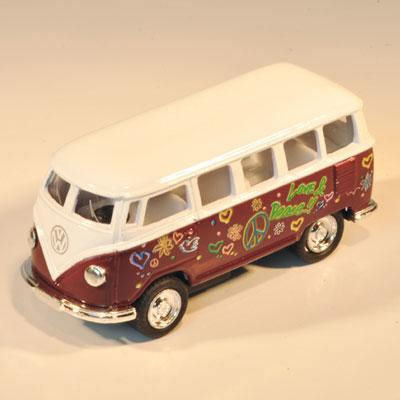 VW HIPPIEBUS model 1962 (small-l:5,5cm-brown)